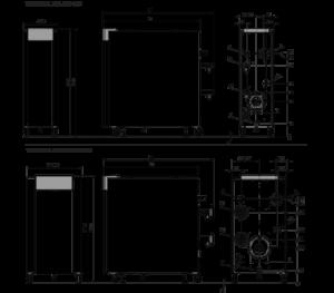 Dimensions encombrement chaudiere-2