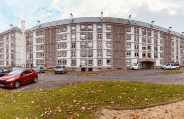 Façade des logements du quartier de La Découverte à Saint-Malo